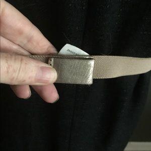 Anthropologie Accessories - Anthropologie metallic leather leaf belt medium